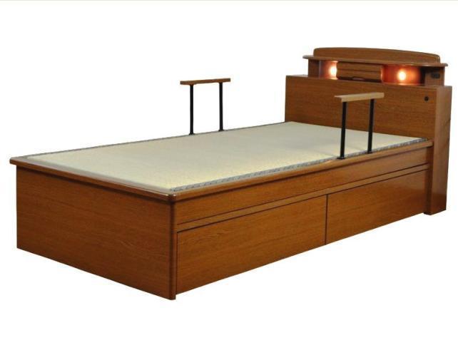 畳ベッド ベッド 木製 たたみベッド シングルベッド 畳ベッド 手すり付 シングルベッド タタミベッド たたみベッド 木製