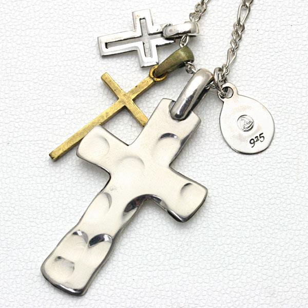 amp japan/アンプジャパン 「1st. Cross」 タタキクロス ネックレス 1AO-110 【ギフトOK】【smtb-k】【楽ギフ_包装】