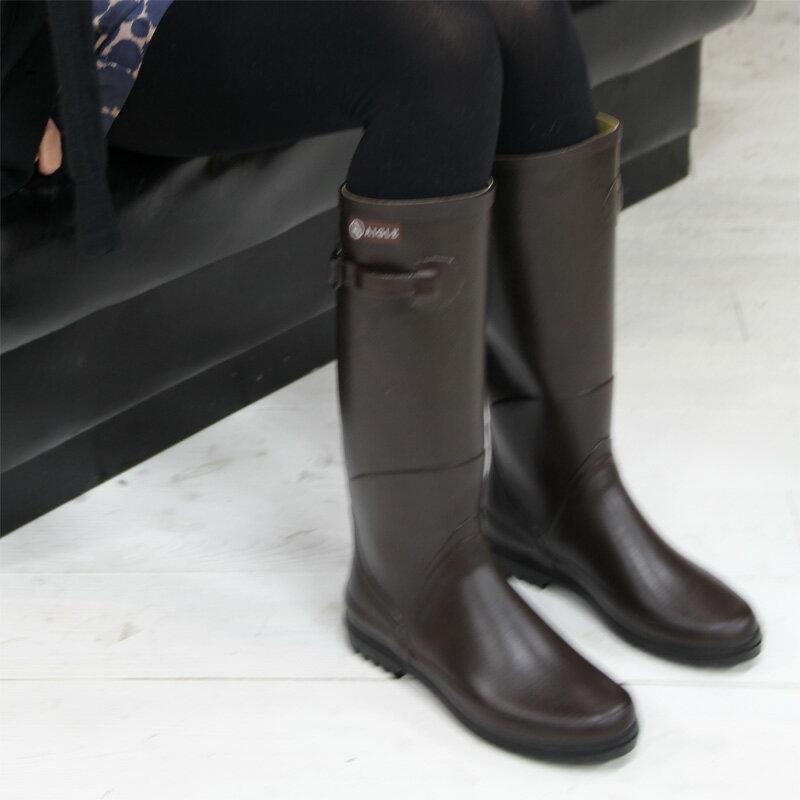 【 セール sale 】 国内正規品 AIGLE CHANTEBELLE BRUN bootsエーグル シャンタベル ブラウン レインブーツ レディース