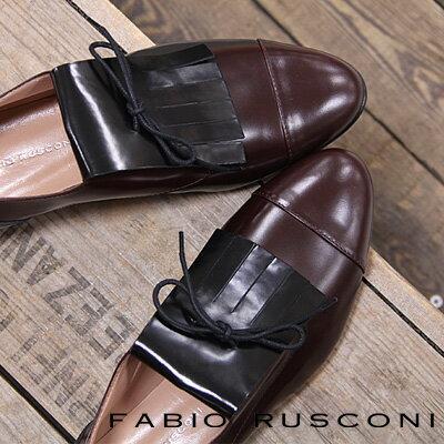 【 sale セール 】 FABIO RUSCONI 2696  ファビオ ルスコーニ フラット レースアップ 靴 【 ファビオルスコーニ 】