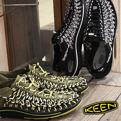 KEEN サンダル sandal UNEEK SLICE FADE 1014612(BLACK/NEUTRALGRAY)  1014614(BURNT OLIVE/WARM OLIVE) キーン ユニーク スライス フェード メンズ mens