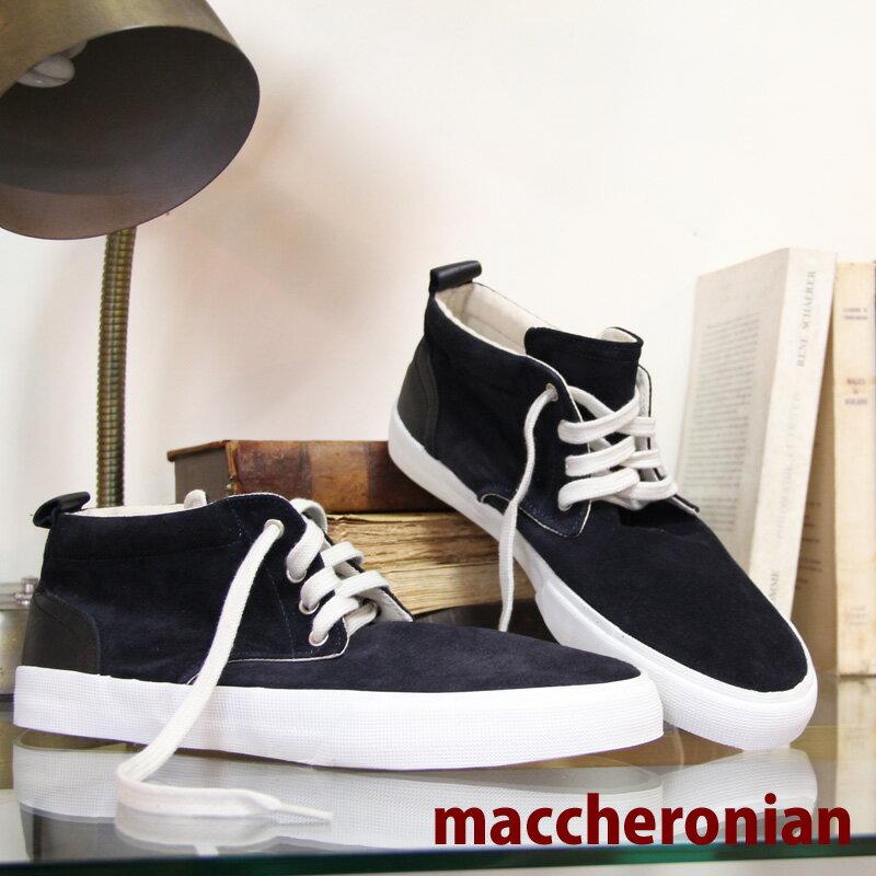【 セール sale 】 maccheronian 2449 NAVY スニーカー sneaker スエード チャッカ マカロニアン 2449SL メンズ ネイビー