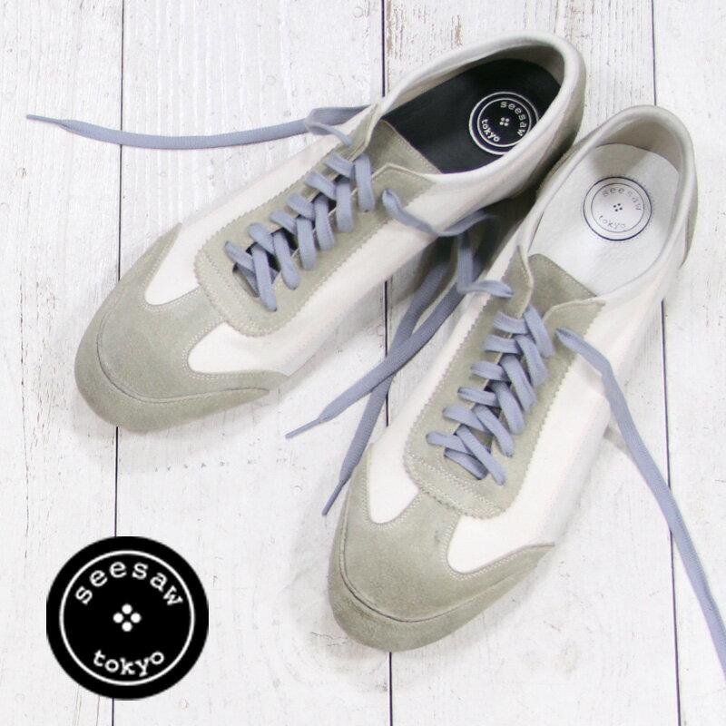 【 セール sale 】 seesaw by marchercher SW 10002 WHITE シーソー バイ マーシェルシェ メンズ 靴 ホワイト