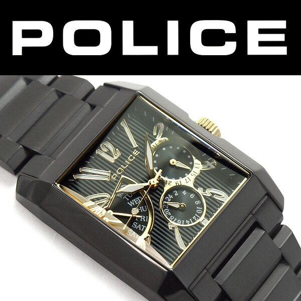 【POLICE】ポリス KING'S AVENUE キングスアベニュー クォーツ 電池式 メンズ 腕時計 ブラック ダイアル 正規品 2年長期保証 13789MSB-02MA【あす楽】
