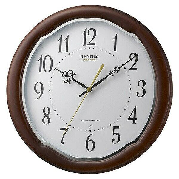 リズム RHYTHM フィットウェーブアヤW 掛け時計 8MY513SR06 ホワイト