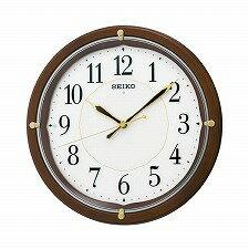 【SEIKO CLOCK】セイコークロック製セイコー SEIKO 自動全面点灯 電波 掛け時計 KX202B ブラウン