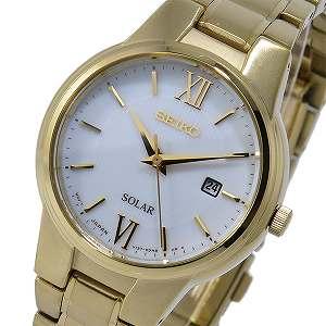 【逆輸入SEIKO】セイコー SEIKO ソーラー SOLAR クオーツ レディース 腕時計 SUT232P1 ホワイト