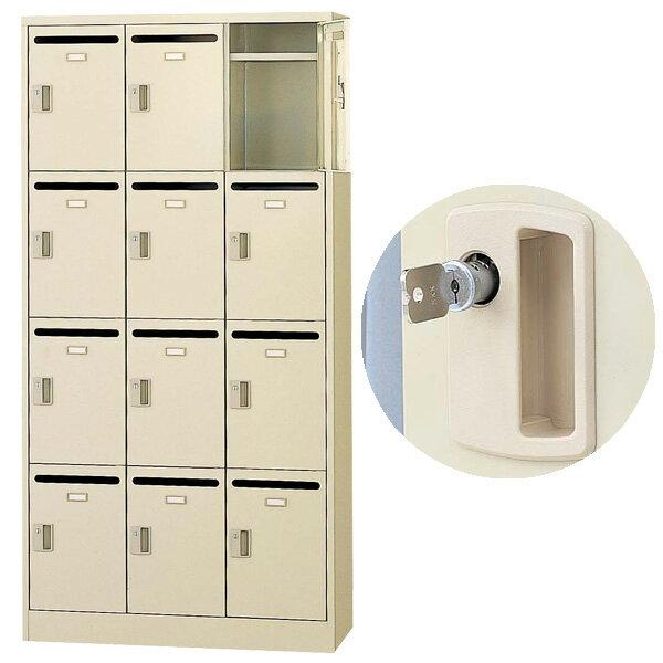 生興 メールボックス(D380・ニューグレー) W900×D380×H1790 SLC-12TP-T 内筒交換錠【代引不可】