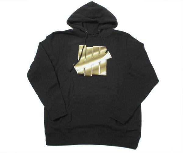 アンディフィーテッド(UNDEFEATED)プルオーバー フード パーカー ゴールド ストライク ブラック PULLOVER HOOD GOLD STRIKE BLACK メンズ