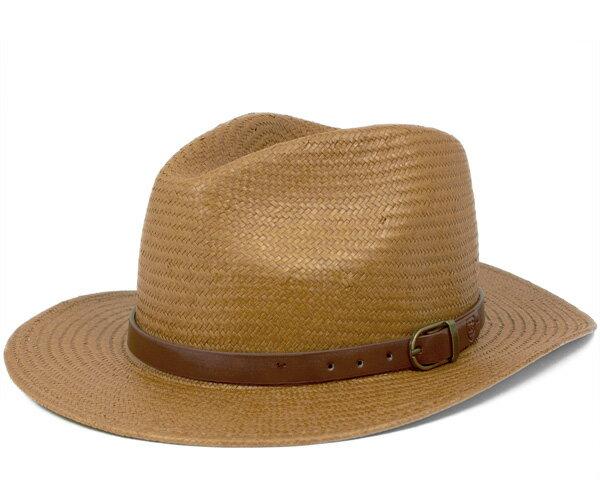 ブリクストン(BRIXTON) ストローハット 麦わら帽子 中折れ レイトン キャメル 帽子 HAT LEIGHTON CAMEL メンズ[KH] #HA:S