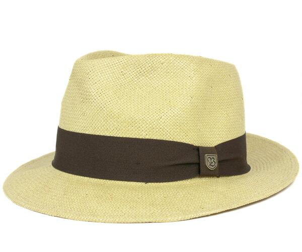 ブリクストン(BRIXTON) ハット バクスター フェドラ タン ストローハット 麦わら帽子 HAT BAXTER FEDORA TAN
