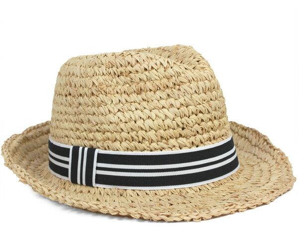 ハットアタック ストローハット 麦わら帽子 チャンキー クロシェ フェドラ ナチュラル 帽子 HAT ATTACK STRAW HAT CHUNKY CROCHET FEDORA ストローハット メンズ #WN