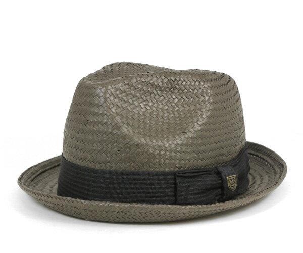 ブリクストン(BRIXTON) ストローハット 麦わら帽子 カスター ウォッシュド ブラック 帽子 STRAW HAT CASTOR WASHED BLACK メンズ