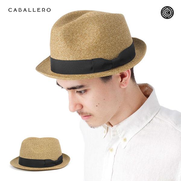CABALLERO ハット ストロー 麦わら帽子 中折れ ヌガー 帽子 CABALLERO HAT FEDORA NOUGAT メンズ