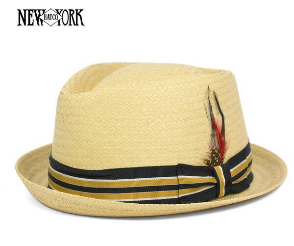 ニューヨークハット(NEW YORK HAT) ストライプ トーヨー ダイヤモンド バンブー 帽子 STRIPED TOYO DIAMOND BAMBOO メンズ