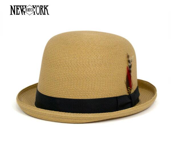 ニューヨークハット(NEW YORK HAT) ソーン ダービー バンブー 帽子 SEWN DERBY BAMBOO ストローハット メンズ