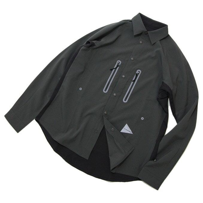 and wander(アンドワンダー)Tech Long Sleeve Shirt テックロングスリーブシャツ