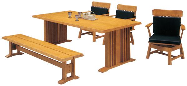 ダイニングテーブルセット ダイニングセット 5点セット 北欧 モダン 5人用 ダイニングテーブルセット 幅190cm 食卓テーブル ベンチ 【送料無料】