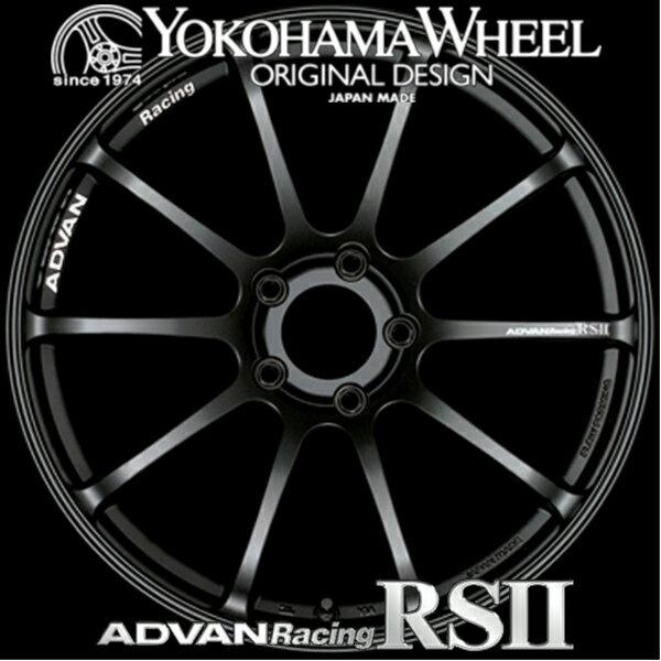 ADVAN Racing RS2 RSII for MINI/VW/AUDI/MERCEDES アルミホイール 17×7.0J 4/100 +42 M14 セミグロスブラック