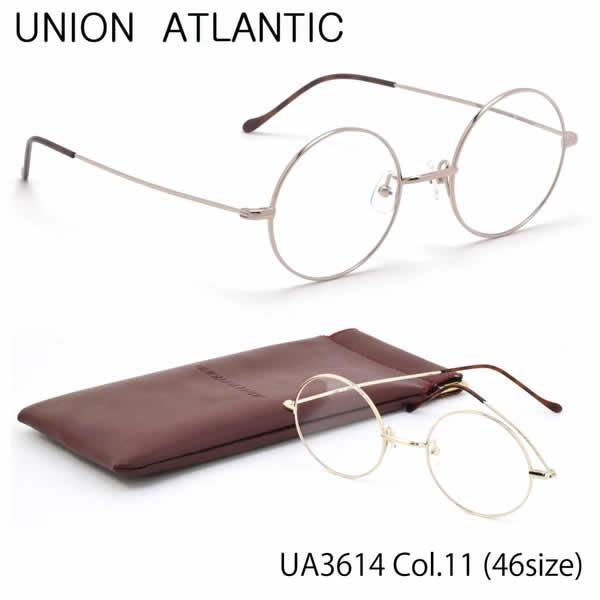 【ユニオンアトランティック】 (UNION ATLANTIC) メガネUA3614 11 46サイズ日本製 丸メガネ AMIPARISUNIONATLANTIC 伊達メガネレンズ無料 メンズ レディース