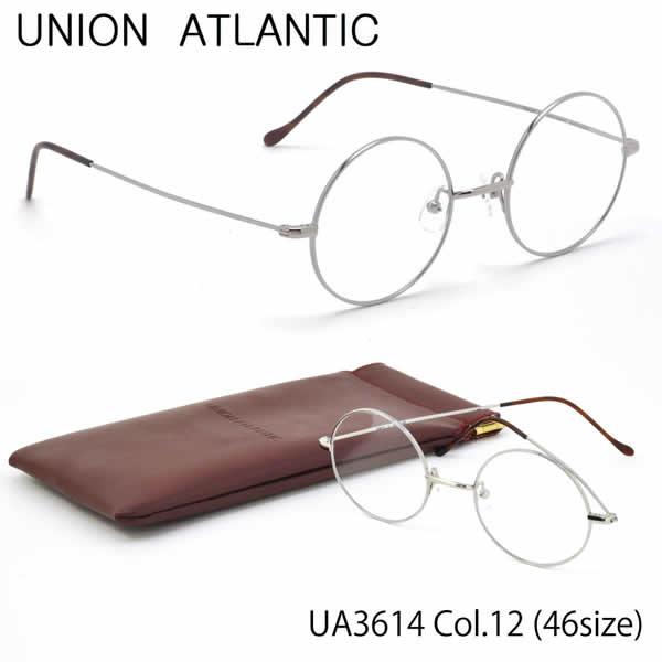 【ユニオンアトランティック】 (UNION ATLANTIC) メガネUA3614 12 46サイズ日本製 丸メガネ AMIPARISUNIONATLANTIC 伊達メガネレンズ無料 メンズ レディース