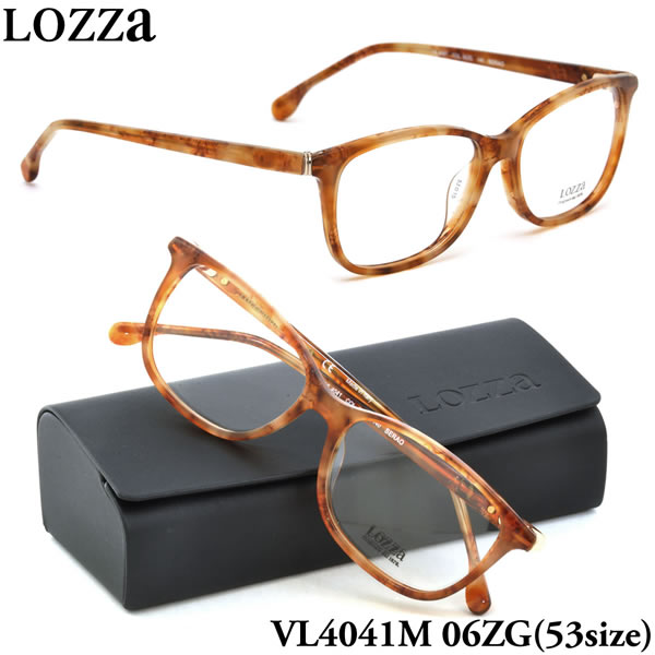 【LOZZA】ロッツァ 眼鏡 メガネ フレーム VL4041M 06ZG 53サイズ SERAO ボストン メンズ レディース