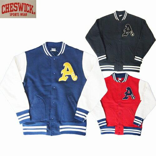 スウェット ジャケット CHESWICK/チェスウィックベースボールジャケット CAL-A S・M・Lサイズ 3カラー メンズ【送料無料】【あす楽】
