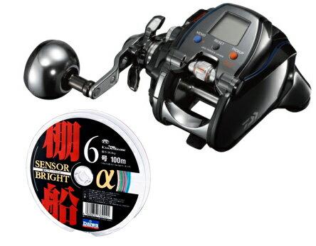 【送料無料!】 ダイワ(daiwa) シーボーグ 300J-L (左巻)PEライン(ダイワ棚センサーブライト)3号400mセット! 電動リールに糸を巻いてお届けします!