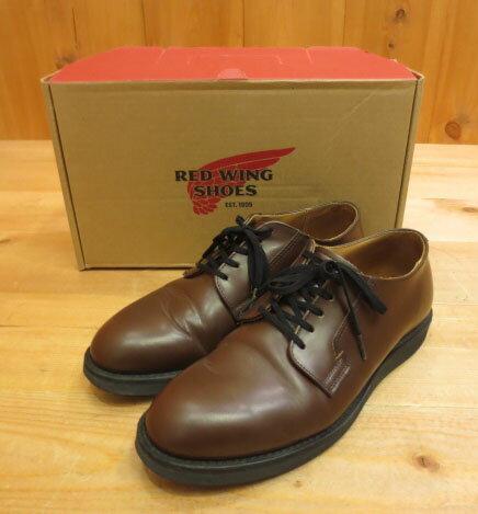 の圧倒的な品質 【中古】Redwing レッドウイング ポストマン オックスフォード 靴 シューズ 9101 サイズ:26.5 カラー:ブラウン系
