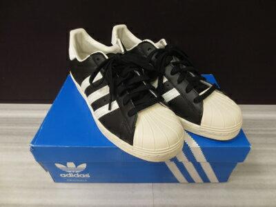 【中古】adidas /アディダス G61069 SUPER STAR 80S サイズ:26 カラー:ブラック×ホワイト