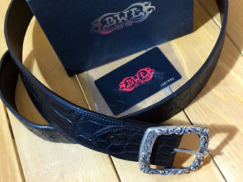 【中古】Bill Wall Leather/B.W.L/ビルウォールレザー ベルト カラー:ブラック系