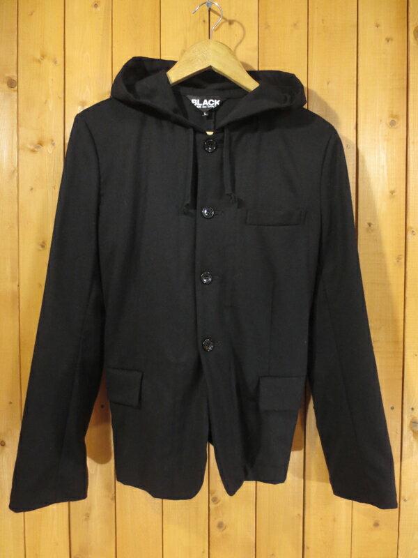【中古】BLACK COMME des GARCONS/ブラックコムデギャルソン フード ジャケット サイズ:L カラー:ブラック