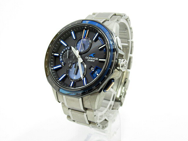1432710c2f 【中古】CASIO|カシオ OCEANUS オシアナス Bluetooth搭載 GPSハイブリッド電波ソーラー 腕時計 OCW-G2000C-1AJF  ブラック×シルバー チタンベルト 驚き値段で