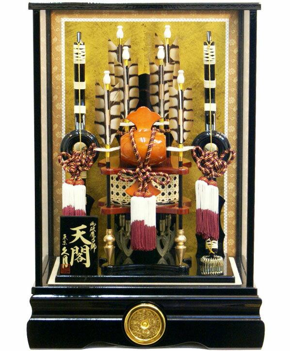 【破魔弓 送料無料】久月作 家紋「天閣」ケース飾り 15号《711526》