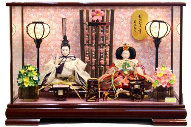 【雛人形 送料無料】吉徳大光 「おひなさま」二人親王 ケース飾り《322-324》
