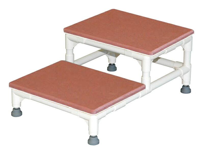 ステップ台 2段(大) CHA-6 H25/12.5×W60×D60cm 質量:8.3kg グレー[※代引不可]