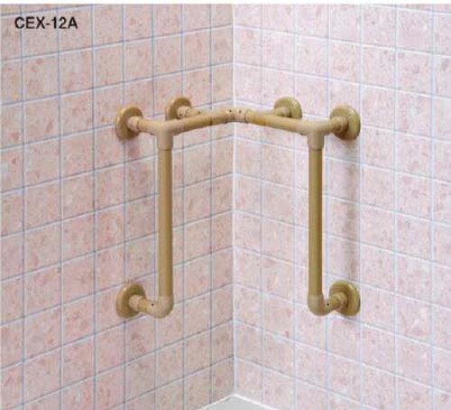 φ32浴室まわりオーダー手すり CEX-12A-W H450×D120mm ホワイト[※代引不可]