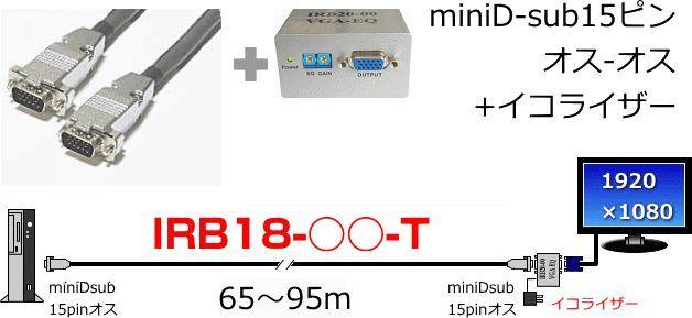 【新品/取寄品】高解像度対応 モニター延長ケーブルDOS/V機用アナログRGB55m IRB18-55-T