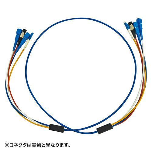 【新品/取寄品】ロバスト光ファイバケーブル FC×4‐FC×4 5m ブルー HKB-FCFCRB1-05