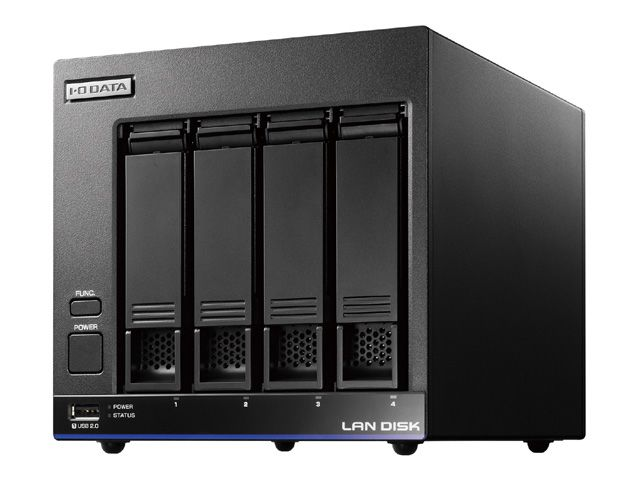 【新品/取寄品】高性能CPU&NAS用HDD「WD Red」搭載4ドライブビジネスNAS有償5年間保守パックモデル8TB HDL4-X8/ST5