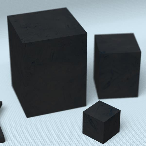 カーボンブロック材[寸法:275×275×275mm][数量:1個][品種:押出成型品(GR-103)][納期:2~4週間(受注生産品)]