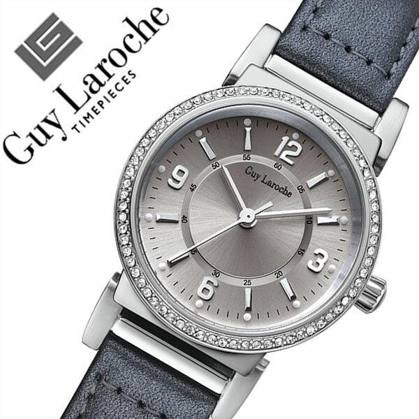 ギラロッシュ腕時計 Guy Laroche時計 Guy Laroche 腕時計 ギラロッシュ 時計 レディース/シルバー L2006-01 [アナログ TIMEPIECES レディースウォッチ ブラック 黒/銀 3針][送料無料][プレゼント/祝い]
