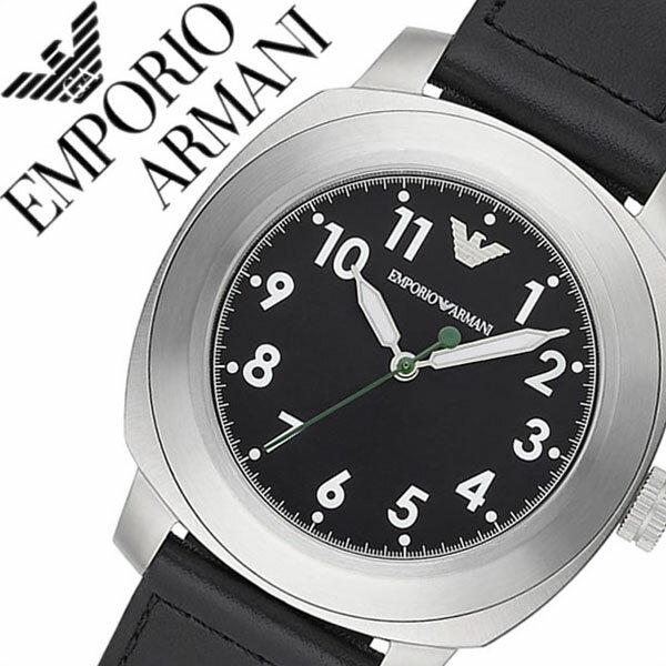 エンポリオアルマーニ 時計[ EMPORIOARMANI 時計 ]エンポリオ アルマーニ 腕時計[ EMPORIO ARMANI 腕時計 ]アルマーニ時計/アルマーニ腕時計/スポルティーボ  SPORTIVO メンズ/ブラック AR6057 [エンポリ/EA/新作/人気/ブランド/防水/革 ベルト/レザー/シルバー][送料無料]