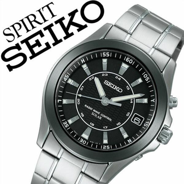 【5年保証対象】セイコー腕時計 SEIKO時計 SEIKO 腕時計 セイコー 時計 スピリット SPIRIT メンズ/ブラック SBTM107 [メタル ベルト/正規品/ソーラー 電波/シルバー][プレゼント/ギフト][送料無料]