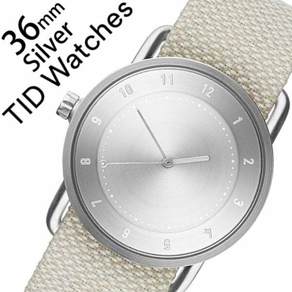 【5年保証対象】[ ティッドウォッチズ ]ティッドウォッチ 腕時計[ TIDWatches 時計 ]ティッド ウォッチ 時計[ TID Watches 腕時計 ]クヴァドラ Kvadrat メンズ/レディース TID02-SV36-SAND [No.2/通販/新作/インスタ/北欧/シンプル/革/レザー ベルト/シルバー][送料無料]