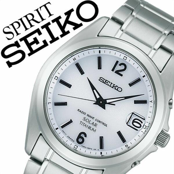 【5年保証対象】セイコー スピリット 腕時計[ SEIKO SPIRIT 時計 ]セイコースピリット 時計[ SEIKOSPIRIT 腕時計 ]セイコー スピリット時計[ SEIKO SPIRIT時計 ]メンズ/ホワイト SBTM225 [スピリッツ/メタル ベルト/ソーラー 電波/シルバー][送料無料]