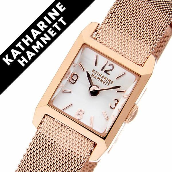 【5年保証対象】キャサリンハムネット 腕時計[KATHARINEHAMNETT 時計]キャサリン ハムネット 時計 ザ オリジン THE ORIGIN レディース/シルバーホワイト KH87D4-B15 [正規品/人気/新作/ブランド/トレンド/高級/イギリス/アンティーク/ファッション/メタル ベルト][送料無料]