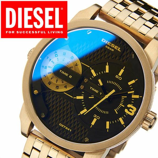 ディーゼル 腕時計[DIESEL 時計]ディーゼル 時計[DIESEL 腕時計]ミニダディー Mini Daddy メンズ/ブラック DZ7341 [新作/人気/ブランド/防水/ファッション/メタル/ベルト/偏光ガラス/ゴールド/ビックフェイス][送料無料]