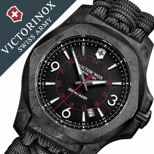 【5年保証対象】ビクトリノックス 腕時計[ VICTORINOX 時計 ]ヴィクトリノックス 時計[ VICTORINOX SWISS ARMY ]ビクトリノックス スイスアーミー イノックス カーボン パラコード I.N.O.X. CARBON PARACORD メンズ 241776 [人気/ブランド/ミリタリー/軍用/ラバー][送料無料]
