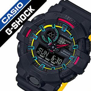【5年保証対象】カシオ 腕時計[CASIO 時計]カシオ 時計[CASIO 腕時計]ジーショック G-SHOCK メンズ/マルチカラー GA-700SE-1A9JF[Gショック/ジーショック/おしゃれ/アウトドア/スポーツ/アナデジ/カレンダー/LED/バックライト/ソーラー/電波時計/防水/人気][送料無料]